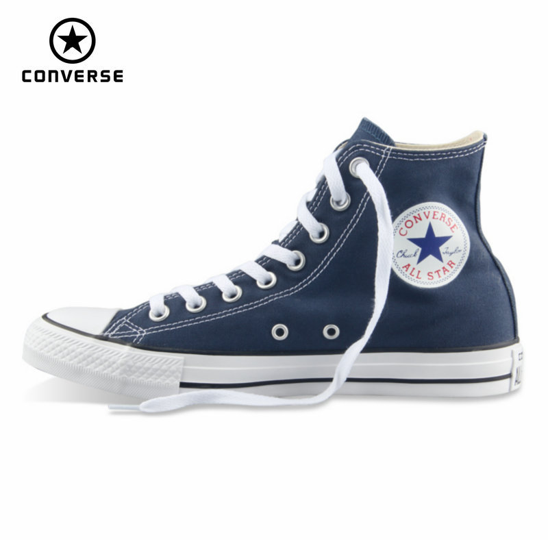 38ae3e318c Original Converse all star shoes men women's sneakers canvas shoes all  black high classic Skateboarding Shoes free shipping